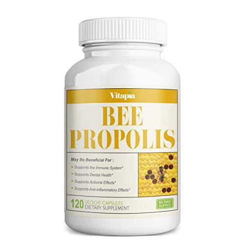 Vitapia Bee Propolis 1000mg - 120 Veggie Capsules - Non-GMO - Supports...