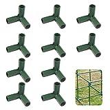 TSLBW 10 Piezas Conector de plástico para Marco de Invernadero para Soporte Estable de jardín Conector de construcción de Marco de Invernadero de Servicio Pesado Conectores de Muebles 16 mm 3-vías