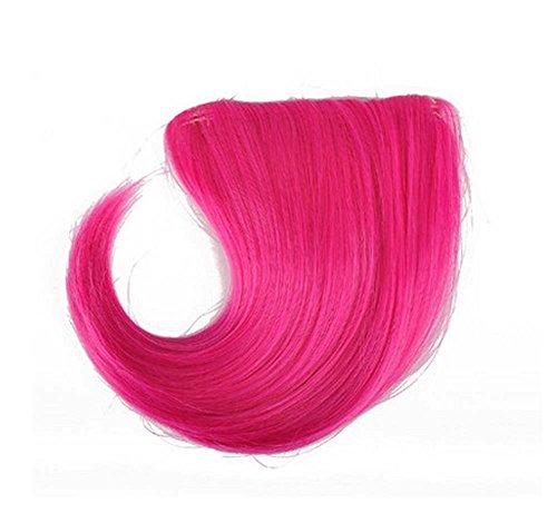 Colorful étape perruque, parti perruque, cheveux Bangs Perruques,Rose foncé