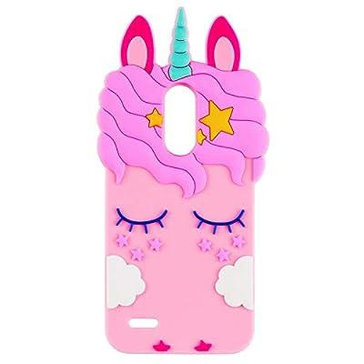 Liangxuer - Carcasa para Samsung Galaxy S5, diseño de unicornio, color rosa