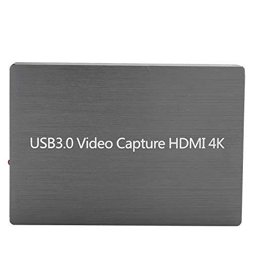 Oumij1 Dispositivo de Captura de Video 4K HDMI, Captura Video de un Solo Canal 1080P y no ocupa CPU, Puede detectar automáticamente el Formato y tamaño de Video, Utilizado para micrófono en el Sitio