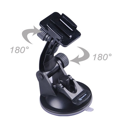Smatree Suction Cup Mount + Stainless Steel Tether Lanyard for GoPro Hero 6/5/4/3+/3/2/1/Session