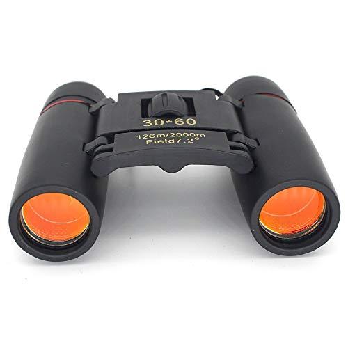 LTGJJ Leichtes Fernglas, Kleine kompakte Erwachsene Folding Mini Portable Hochleistungs-Zoom Klare Vogelbeobachtung Großartig für Outdoor-Sportspiele und Konzerte Leistungsstark