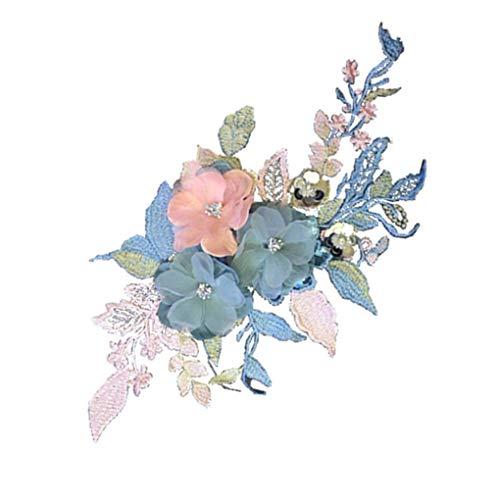 PRENKIN Flores Hechas Mano Bricolaje Ropa Bordada