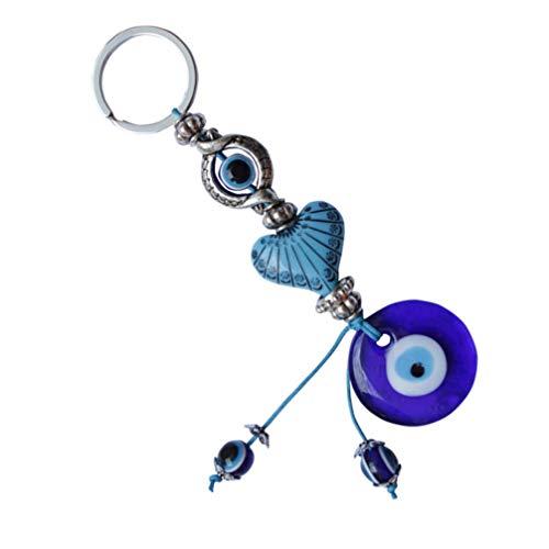 BESPORTBLE Blaues Auge Schlüsselanhänger Blauer Böser Blick Anhänger Türkischer Glücksbringer Taschenanhänger Schlüsselbund mit Geschenkbox Geburtstag Familien Freunde Einweihungsparty Geschenkidee
