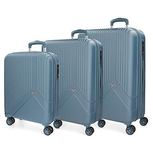 Juego de maletas rígidas 55-66-76cm Movom Trendy Azul