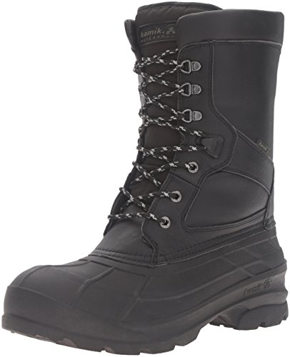 Kamik Men's NationPro Snow Boot, Black, 12 M US