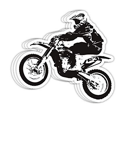 DKISEE Aufkleber Dirt Bike Motocross Enduro Geschenk Dekorationen – 10,2 cm Vinyl-Aufkleber, Laptop-Aufkleber,...