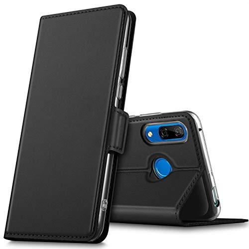 GEEMAI für Huawei P Smart Z Hülle, für Honor 9X Hülle, handyhüllen Flip Hülle Wallet Stylish mit Standfunktion & Magnetisch PU Tasche Schutzhülle passt für Huawei Y9 Prime 2019 Smartphone, Schwarz