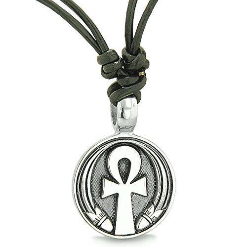 BestAmulets Amulet Ankh Egyptian Power of Life Lucky Charm Medallion...