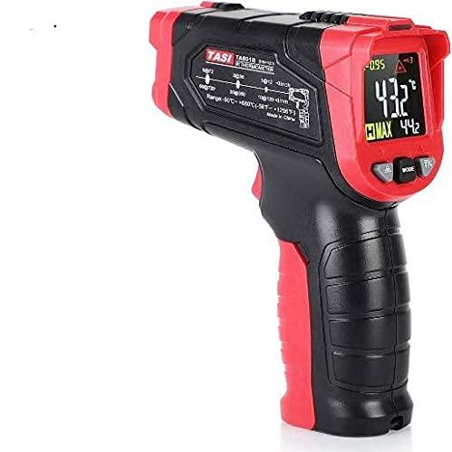 Termómetro infrarrojo TA601B Termómetro láser digital sin contacto Gama de pistola infrarroja LCD retroiluminada para temperatura interna del horno de leña de cocina(TA601B -50-680 ℃)