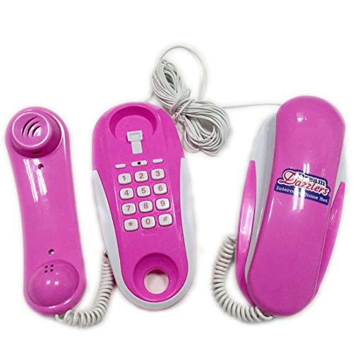 HYMAN Kinder Telefon Talkies Spielzeug, Rollenspiel Intercom Telefon Spielzeug mit echten Klingeltönen
