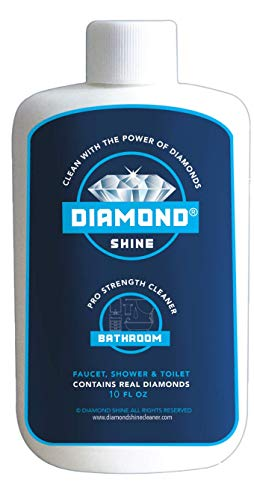 Diamond Shine 10oz Professional Hard Water Shower Door & Bathroom Cleaner Safely Removes Rust & Water Spots/Stains On Chrome, Copper, Brass Fixtures, Faucets, Showers Doors, Sinks