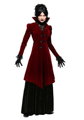Disfraz de vampiresa deliciosamente terrible para mujer - rojo - XS