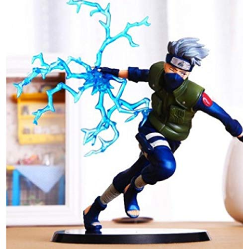 RGERG Action-figuren Statuen Ninja Ornaments Flag Hout Kakashi Nara Deer Pillentas handgemaakt model Pop, 16 cm hoog B