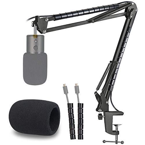 Razer Seiren X Support Microphone Professionnel Réglable avec Bonnette Micro et Tube de Fixation Compatible avec Microphone Streaming Razer Seiren X par YOUSHARES