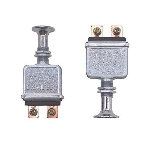 2 Pcs Heavy Duty Push-Pull Switch On/Off 75 AMP 6-28V D.C.