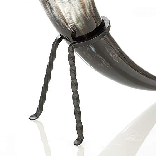 Trinkhornständer - Eisen handgeschmiedet - für Trinkhorn 0,7-1 Liter