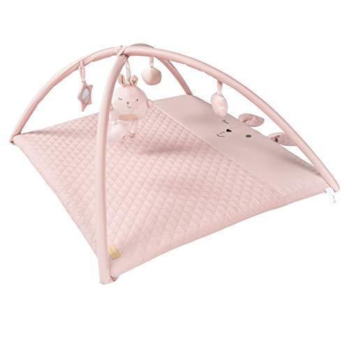 """roba Krabbeldecke """"roba style"""", mit abnehmbaren Spielbogen mit 5 Spielelementen """"Lily"""", verwendbar als Wickelauflage 85x75 cm, rosa Spieldecke"""