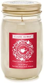 Claire Burke Filled Candle Applejack and Peel 14 Ounces