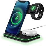 Chargeur sans Fil,3 en 1 Chargeur à Induction Qi Rapide Station de Charge pour iWatch 6/se/5/4/3/2...