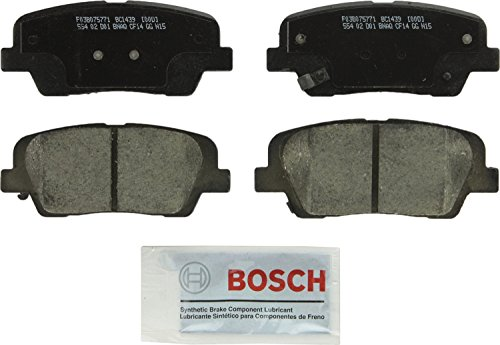 Bosch BC1439 QuietCast Premium Ceramic Disc Brake Pad Set For Hyundai: 2010-2016 Santa Fe, 2013-2016 Santa Fe XL; Kia: 2011-2015 Sorento; Rear
