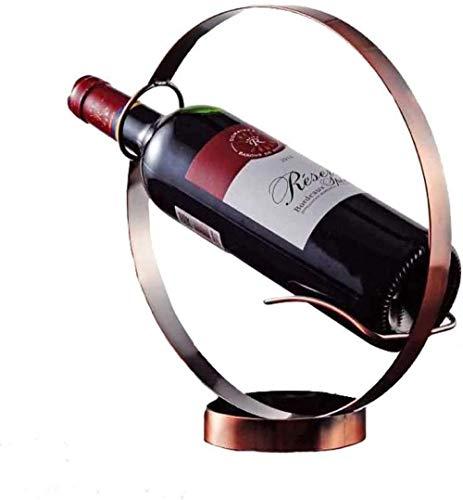 1x Soporte De Estante De Botella De Vino Redondo De Hierro Forjado Retro Decoración De La Barra Del Hogar Estante De Exhibición De Estante De Vino Estante De Vino-brock Vinotecas Copas De Vino