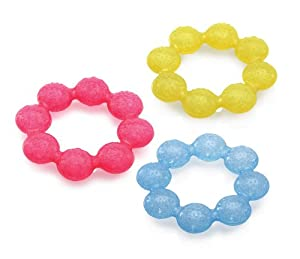 Cool textured surfaces soothe, stimulate and clean baby's gums Engineered with raised offset surfaces that assist in the eruption of new teeth by gently massaging baby's gums purICE Gel stays colder longer than regular water-filled teethers Colors ma...