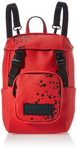 Desigual PU Backpack, Mini Mochila de Poliuretano. para Mujer, Rojo, Medium