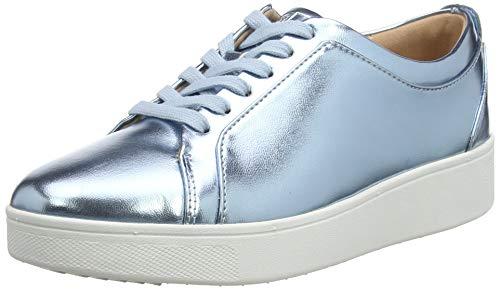 Fitflop Damen Rally Slip On Sneaker, Blau (Metallic Ice Blue 735), 36 EU