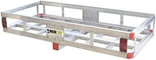 """Best MaxxHaul 70108 49"""" x 22.5"""" Hitch Mount Aluminum Cargo Carrier With High Side Rails For RV"""