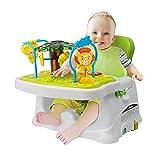 OUNUO Baby Hochstuhl Kinder Boostersitz Sitzerhöhung zum Füttern, mit Baby Klavier Spielzeug für baby von 6 bis 36 Monaten Baby Sitz Grün