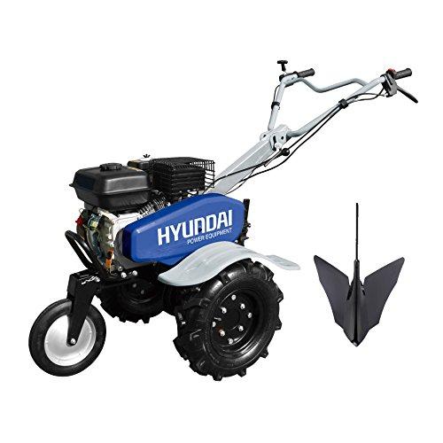 Hyundai HMTC100 Motoculteur thermique 196 cm3, Bleu Gris
