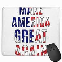 メイク - アメリカ - グレート - もう一度 マウスパッド 25×30 大判 ノンスリップ 防水 ゲーミング おしゃれ マウスの精密度を上がる