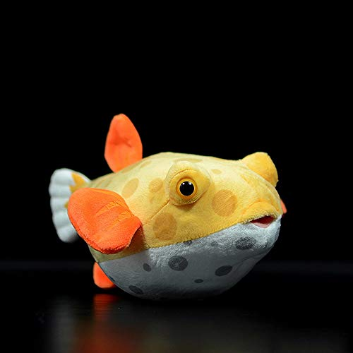 Pcqre 23CM Simulation Cute Box Puffer Fish Doll Figurine Cuddly Toy Arm Support Pillow Squeeze Toy Ocean Animal Stuffed Plush Doll Figurine Cuddly Toy Boy Girl Kid Children Gifts