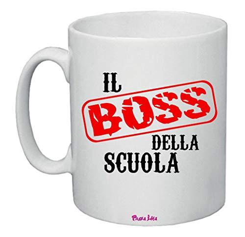 Tazza 8x10 Scritta Il Boss della Scuola Idea Regalo Scuola alunno Professore