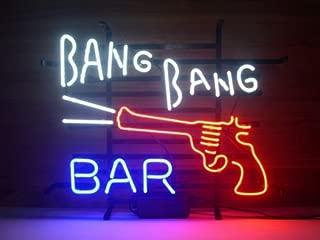 gun neon sign