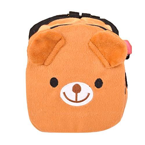 UEETEK verstellbarer Hunde-Rucksack, für Daußen, Reisen, Wandern, Camping, Training (braun)