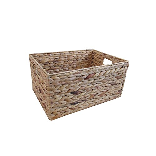 Katie Jane HOME Natural Water Hyacinth Rectangular Storage Basket Medium