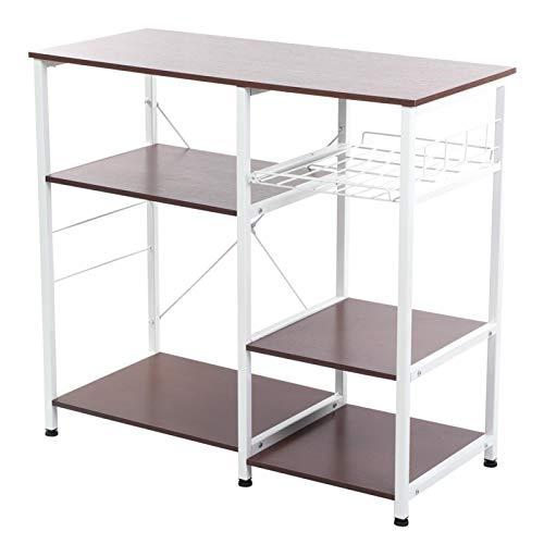 Soporte para horno microondas, estante de almacenamiento para horno microondas Soporte para soporte de cocina Organizador de estante de almacenamiento para uso general