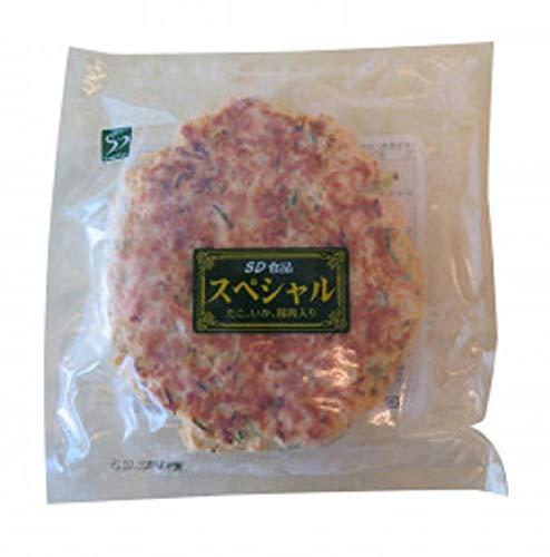 本場関西風 業務用 冷凍お好み焼き デラックス(豚肉・イカ・たこ・ネギ入り) 10枚セット
