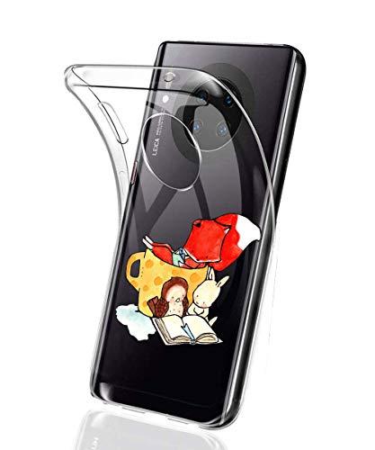 Suhctup Coque Compatible avec Huawei Mate 30 Lite,Ultra-Mince Souple Gel Coque Souple Soft Silicone [Shock-Absorption] Souple Solide Resistant Fine Protection Housse Etui Transparente Motif Tendance