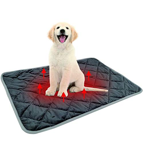 Self Heating Pad for Cats, Thermal Cat and Dog Warming Bed Mat Snooze Pad Pet Bed Mat for Pets Cats Dogs and Kittens for Travel or Home,115 ×72 cm