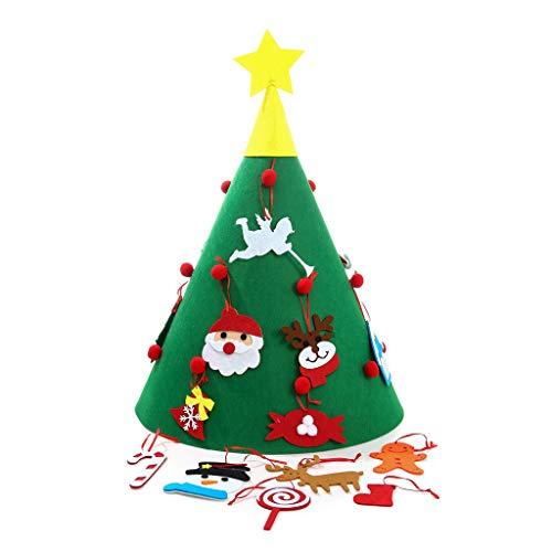 SSYPXZ Kerstmis Meubels Sieraden Handgemaakte DIY Gift Vilt Doek Kerstboom Puzzel Gift Kan De positie van de hanger veranderen