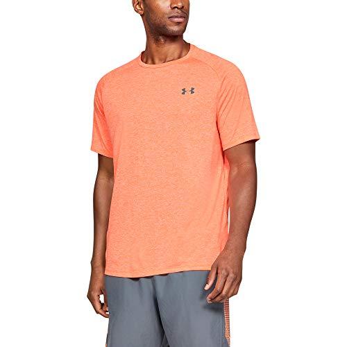 Under Armour Herren Ua Tech 2.0 Short Sleeve Tee atmungsaktives Sportshirt T-Shirt, Orange, Medium