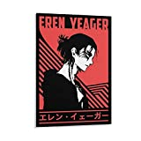JIANGLING Eren Yeager Poster Season 4 Canvas Art Prints Picture Print Canvas Poster Wall Paint Art Posters Decor Modern Home Artworks Gift Idea 12×18inch(30×45cm)