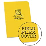 Rite in the Rain Weatherproof Soft Cover Notebook, 3 1/2' x 5', Yellow Cover, Universal Pattern (No. 374-M)