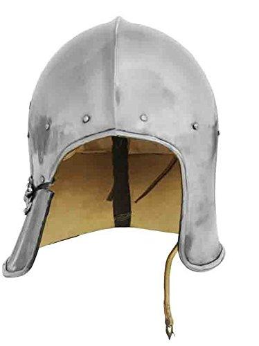 GDFB Get Dressed for Battle - Casco de Arquero con Forro de Cuero (Celata) »Armadura Medieval» Talla M – XL