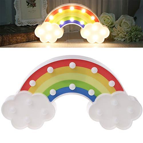 DUBENS LED Lampe Regenbogens mit Wolken, Rainbow Light - Bunte Regenbogen Nachtlicht Tischlampe Nachttischlampen Room Decor für Kinder Schlafzimmer, Weihnachten, Batteriebetrieb