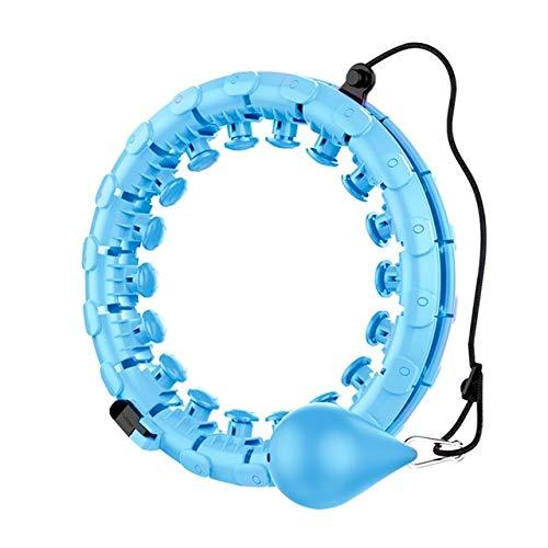 BAITENG Hula Hoop Fitness Adulto Hula Hoop Desmontable Inteligente 2 En 1 Pérdida De Fitness Cintura DePesoEjercicio Abdominal Equipo De Gimnasio Entrenamiento En Casa, Azul